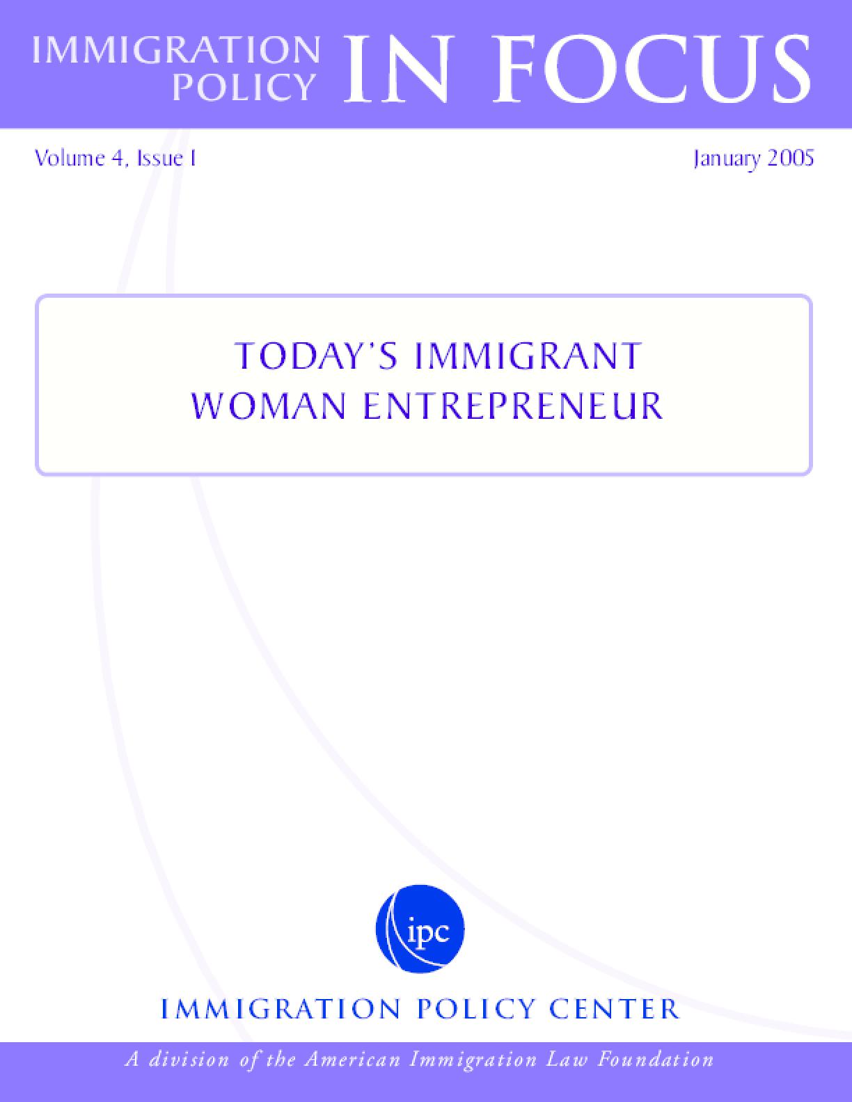 Today's Immigrant Woman Entrepreneur