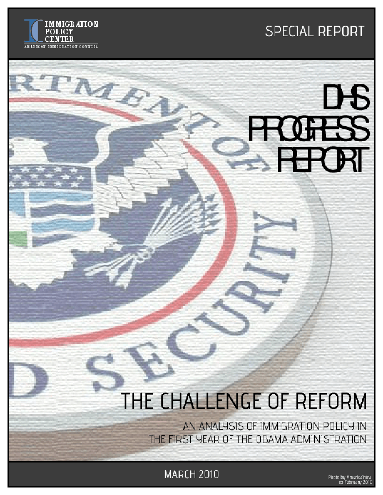 DHS Progress Report: The Challenge of Reform