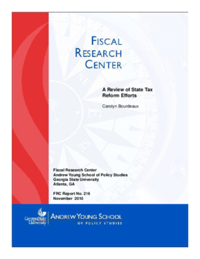 A Review of State Tax Reform Efforts