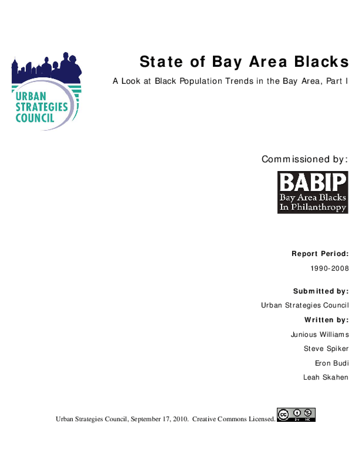 State of Bay Area Blacks
