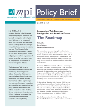 Independent Task Force on Immigration and America's Future: The Roadmap
