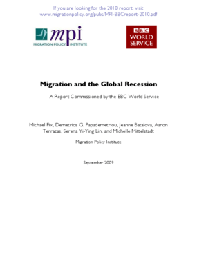 Migration and the Global Recession