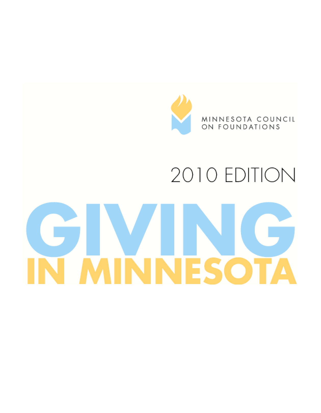 Giving in Minnesota, 2010 Edition