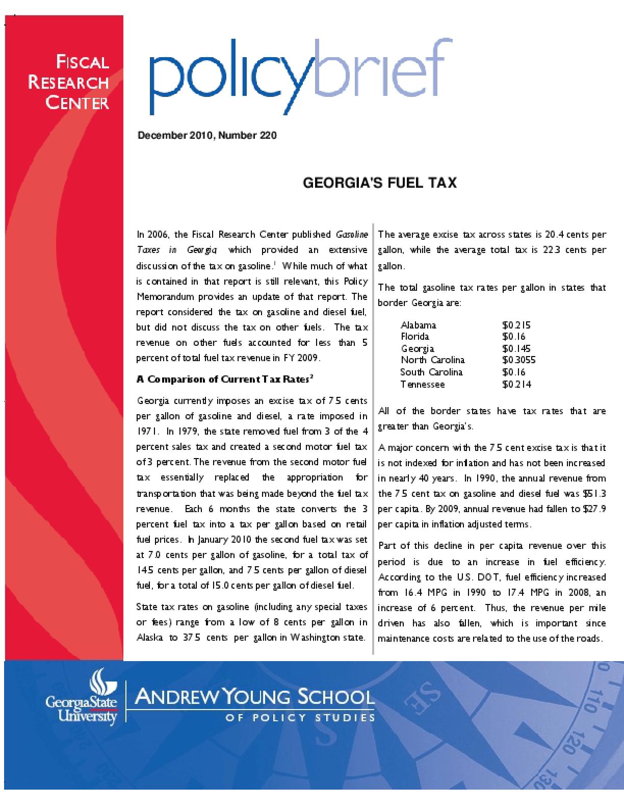 Georgia's Fuel Tax