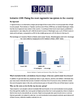 Initiative 1098: Fixing the most regressive tax system in the country