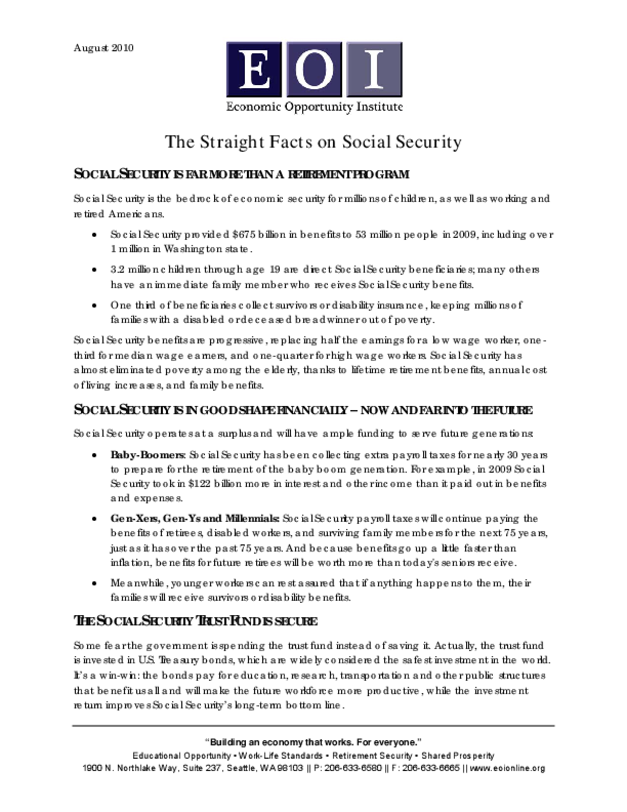 The Straight Facts on Social Security