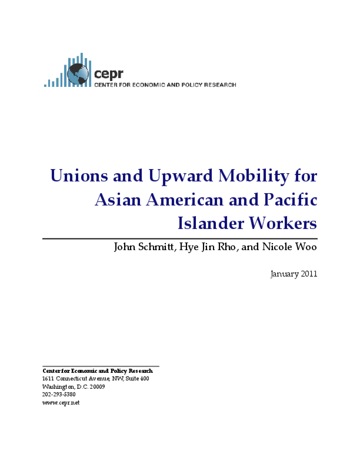 Unions and Upward Mobility for Asian American and Pacific Islander Workers