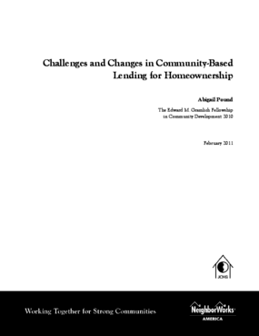 Challenges and Changes in Community-Based Lending for Homeownership