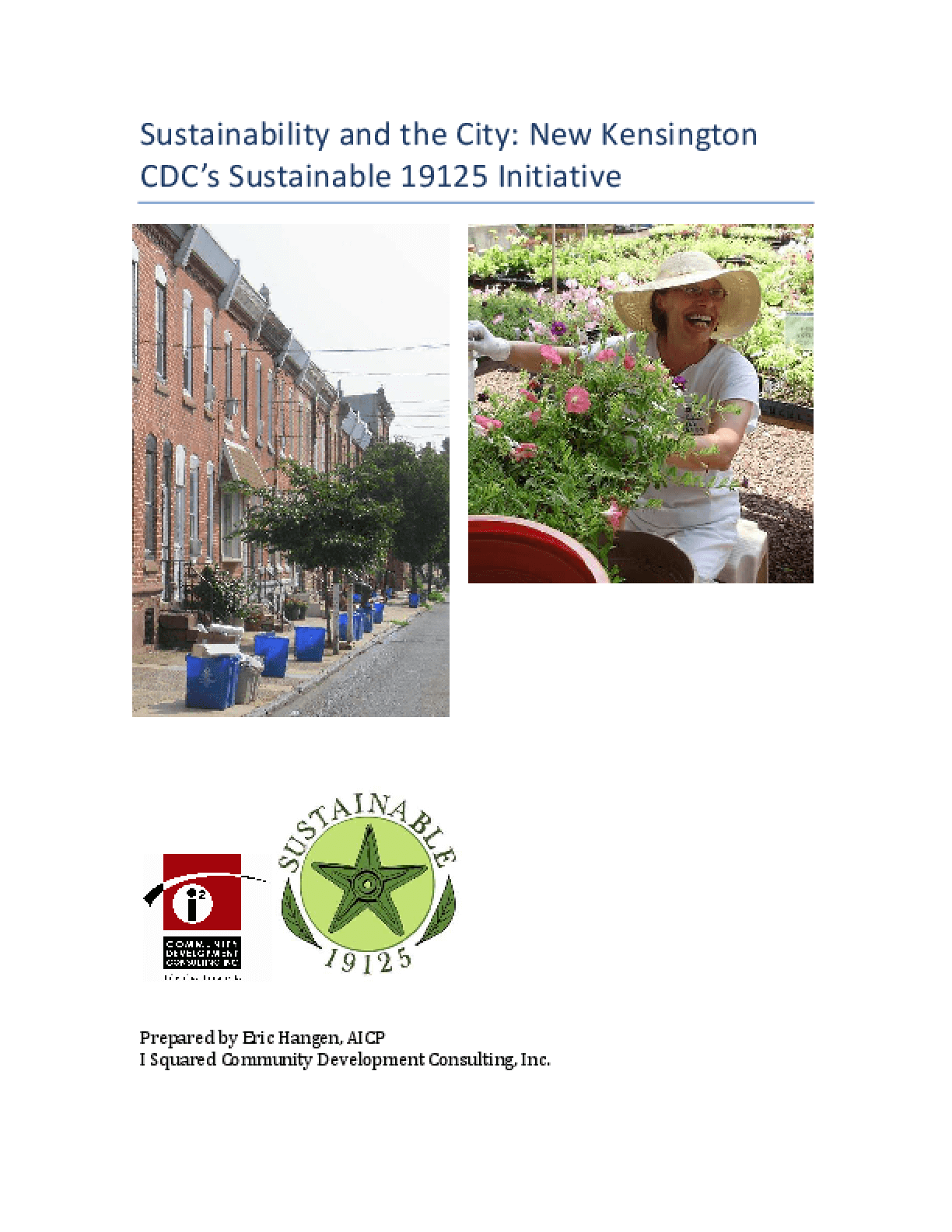 Sustainability and the City: New Kensington CDC's Sustainable 19125 Initiative