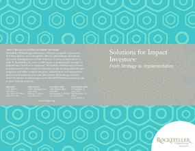Solutions for Impact Investors: From Strategy to Implementation