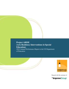 ARISE 2010 Annual Performance Report to the US Department of Education