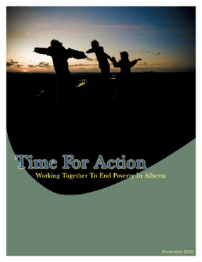 Time for Action: Working together to end poverty in Alberta