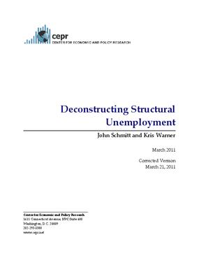 Deconstructing Structural Unemployment