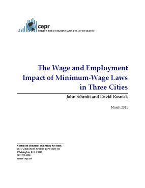The Wage and Employment Impact of Minimum?Wage Laws in Three Cities