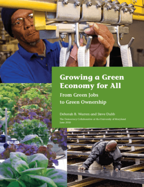 Growing a Green Economy for All: From Green Jobs to Green Ownership