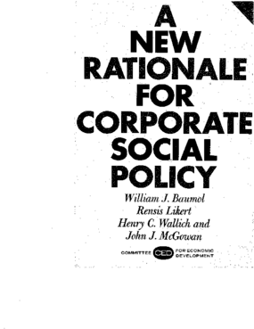 A New Rationale for Corporate Social Policy