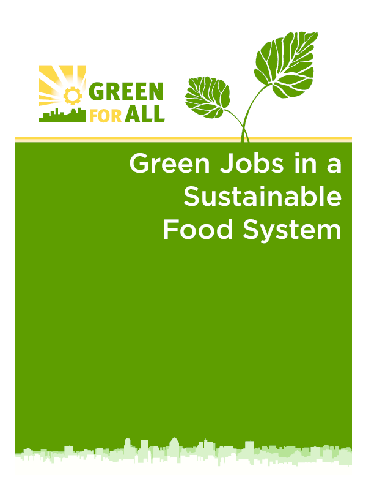 Green Jobs in a Sustainable Food System