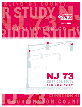 NJ 73 Corridor Study Burlington County