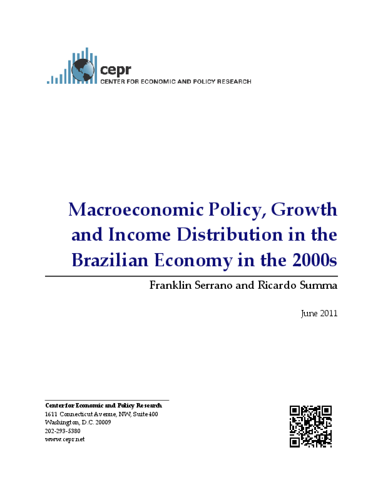Macroeconomic Policy, Growth and Income Distribution in the Brazilian Economy in the 2000s