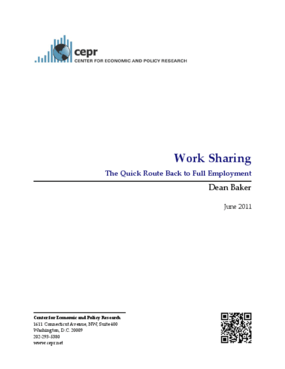 Work Sharing: The Quick Route Back to Full Employment
