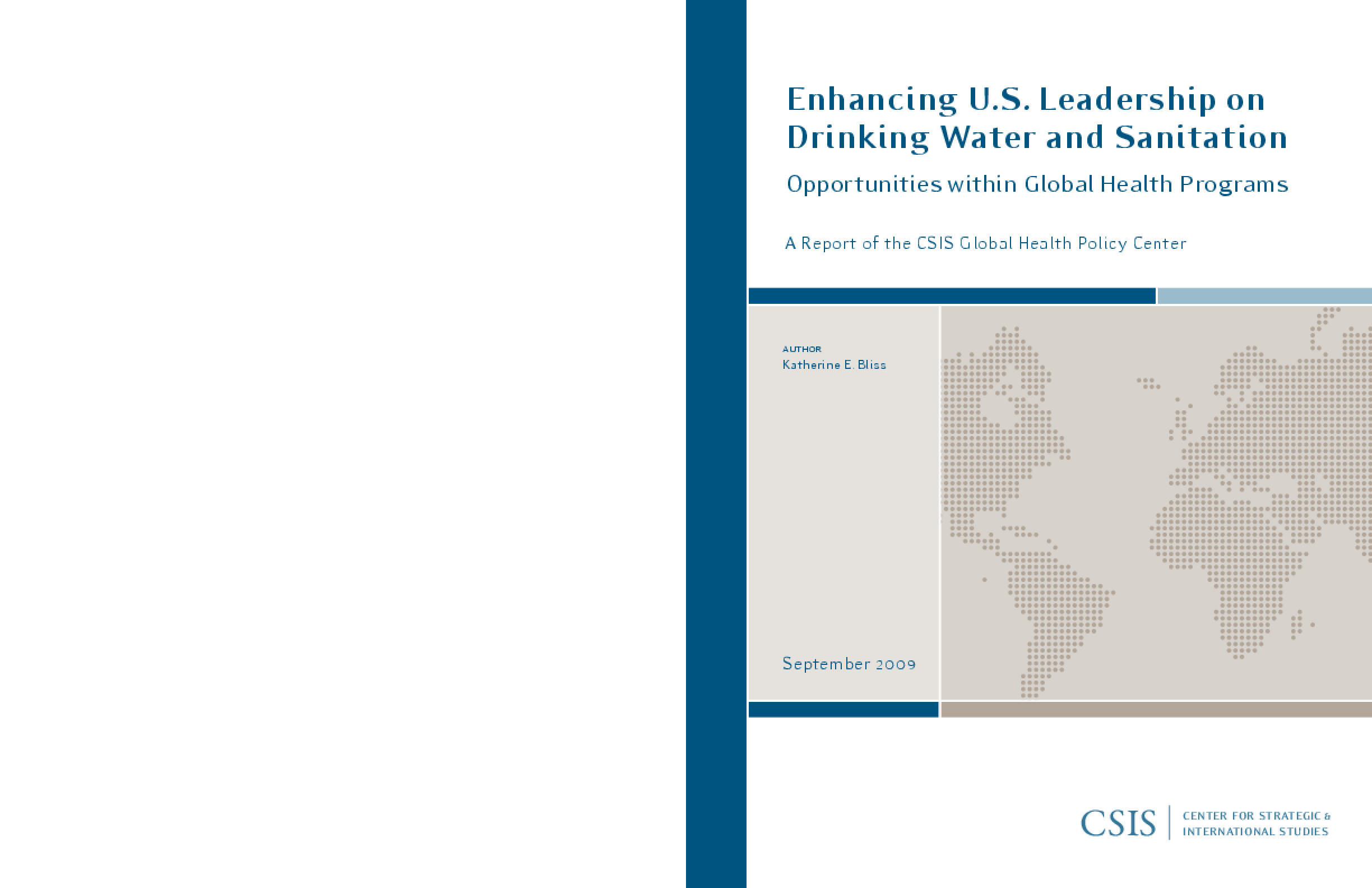 Enhancing U.S. Leadership on Drinking Water and Sanitation: Opportunities Within Global Health Programs