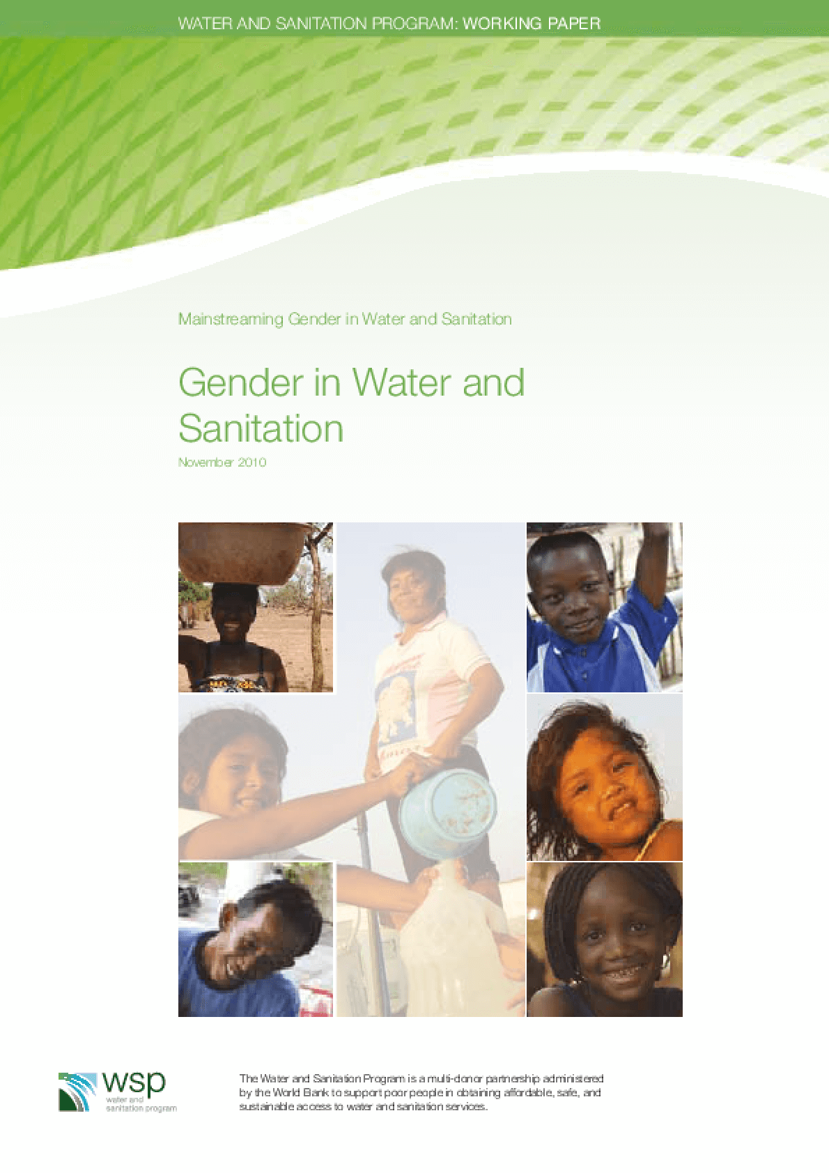 Gender in Water and Sanitation