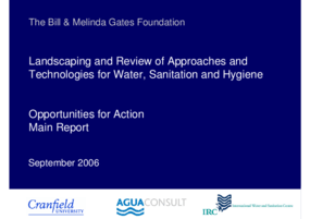 Landscaping and Review of Approaches and Technologies for Water, Sanitation and Hygiene