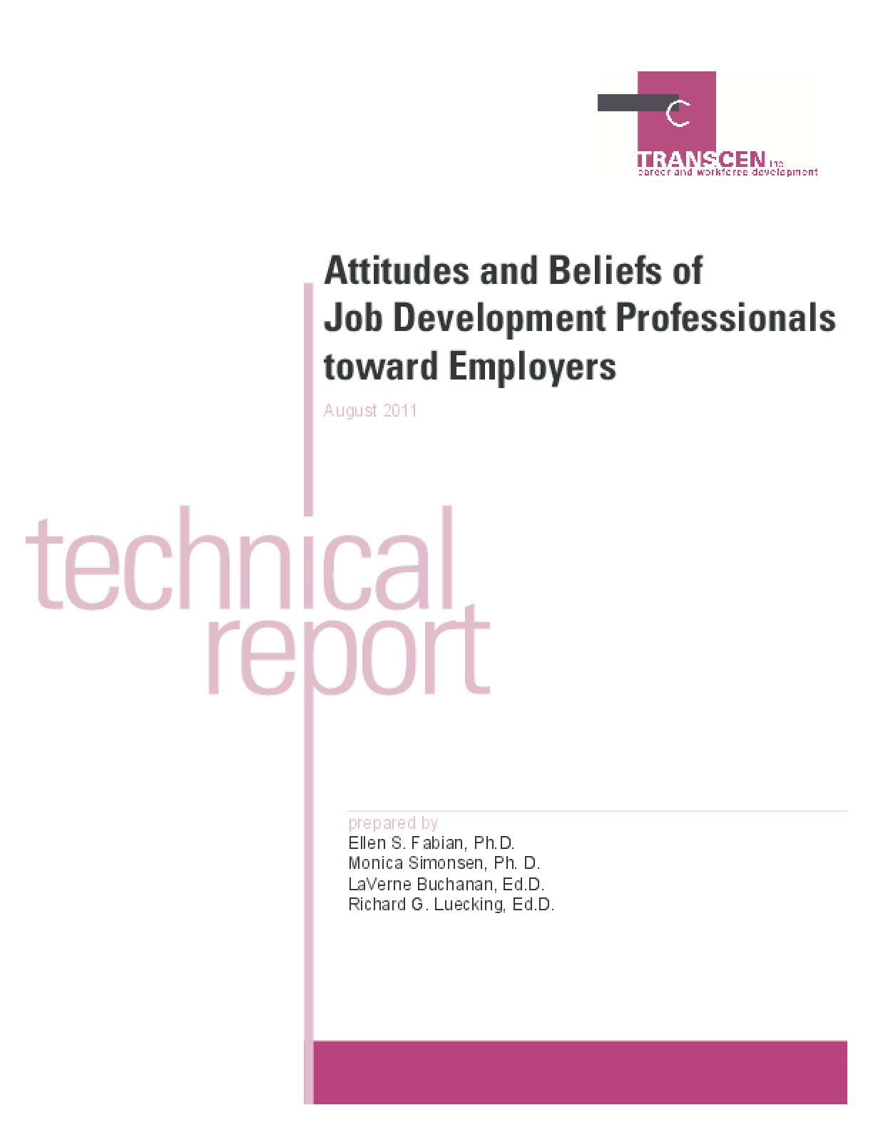 Attitudes and Beliefs of Job Development Professionals Toward Employers