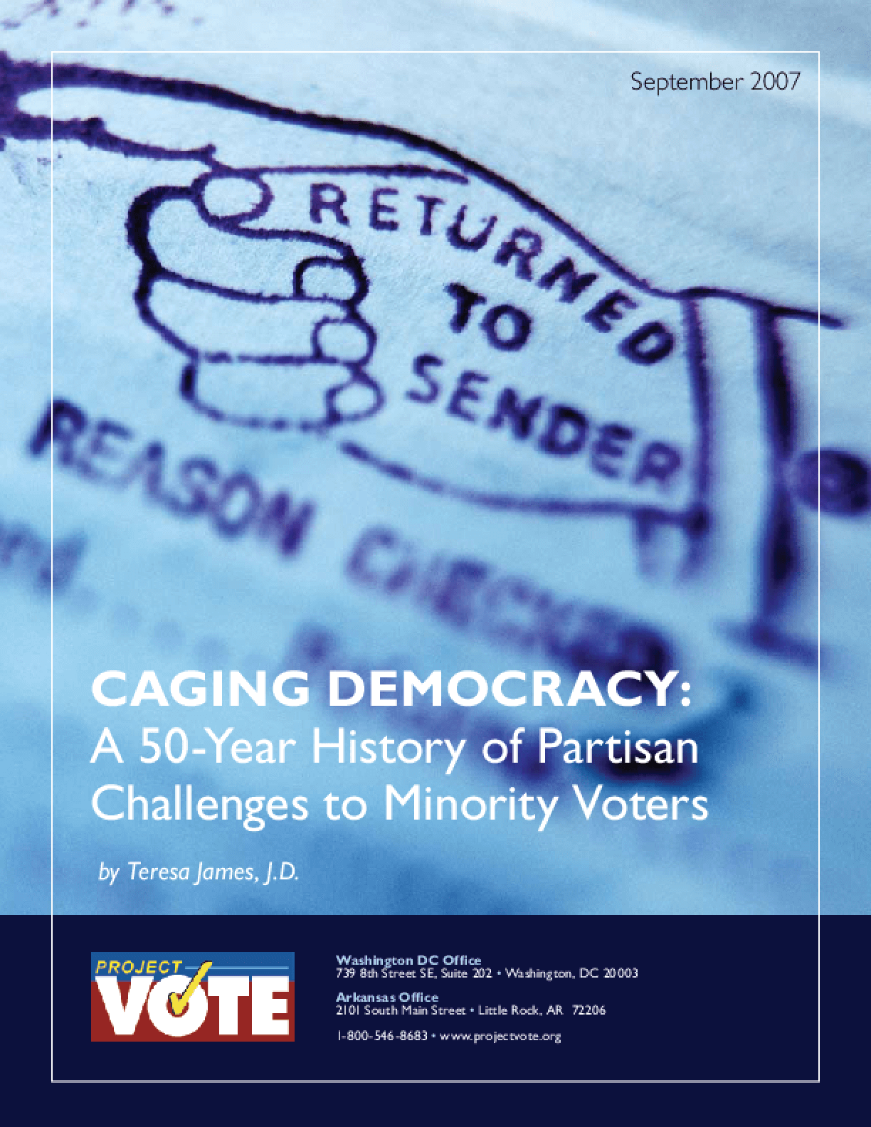 Caging Democracy: A 50-Year History of Partisan Challenges to Minority Voters