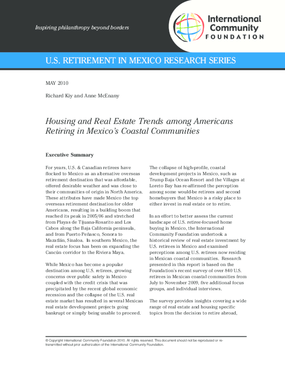 Housing and Real Estate Trends among Americans Retiring in Mexico's Coastal Communities