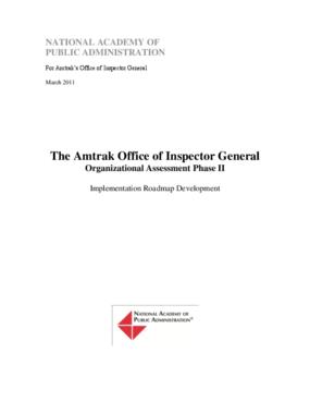 Amtrak OIG Organizational Assessment, Phase II: Implementation Roadmap Development