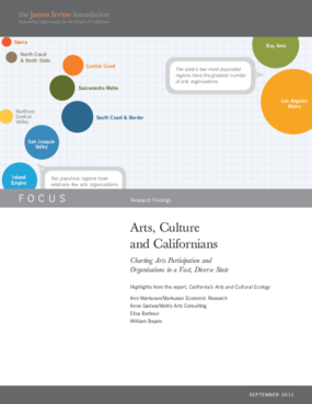 Arts, Culture and Californians Charting Arts Participation and Organizations in a Vast, Diverse State