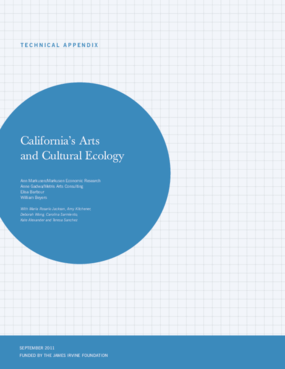 California's Arts and Cultural Ecology Technical Appendix