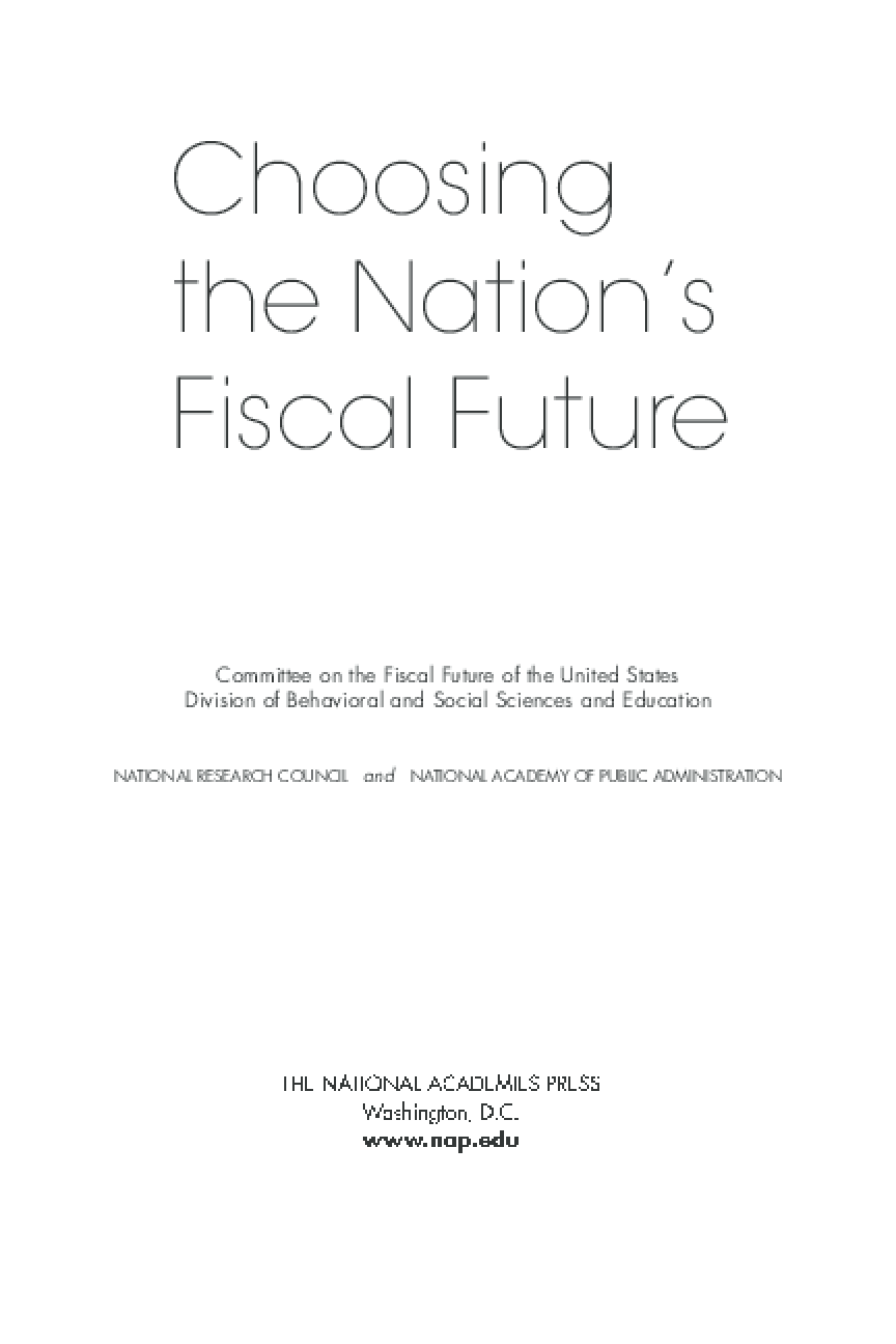 Choosing the Nation's Fiscal Future