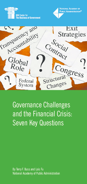Governance Challenges and the Financial Crisis: Seven Key Questions