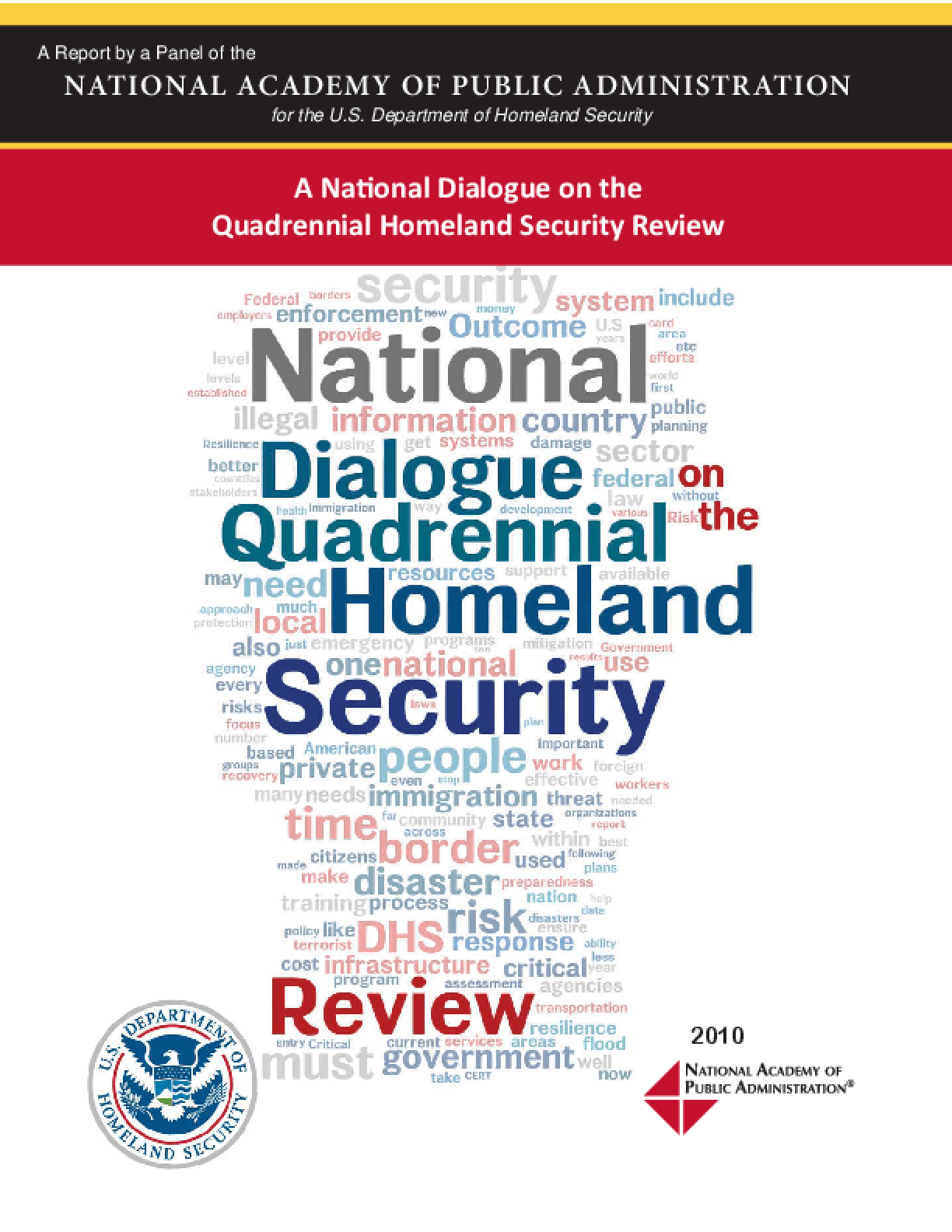 The National Dialogue on the Quadrennial Homeland Security Review
