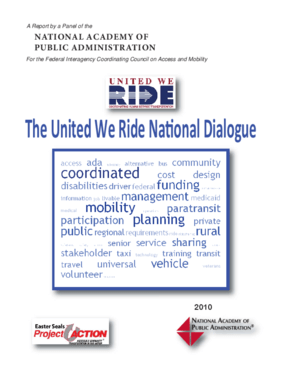 United We Ride National Dialogue