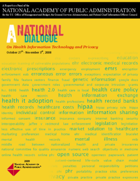 A National Dialogue on Health Information Technology and Privacy