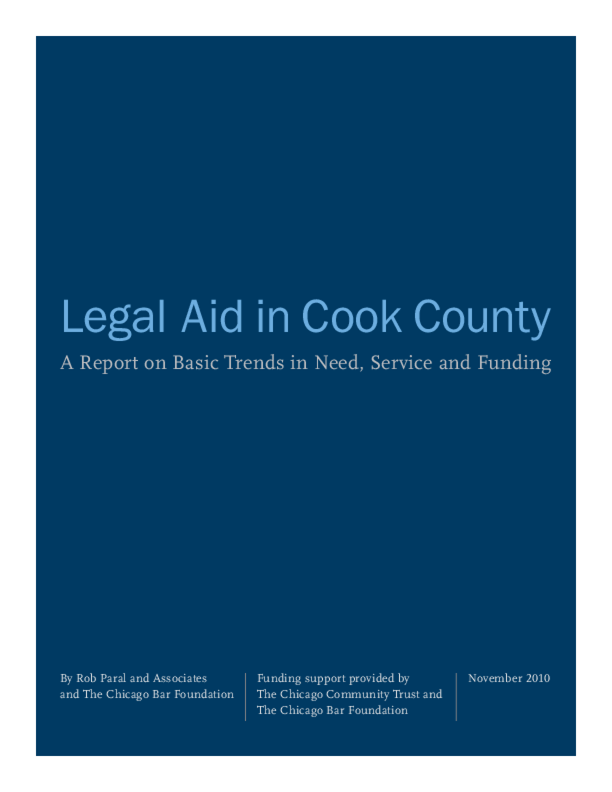 Legal Aid in Cook County