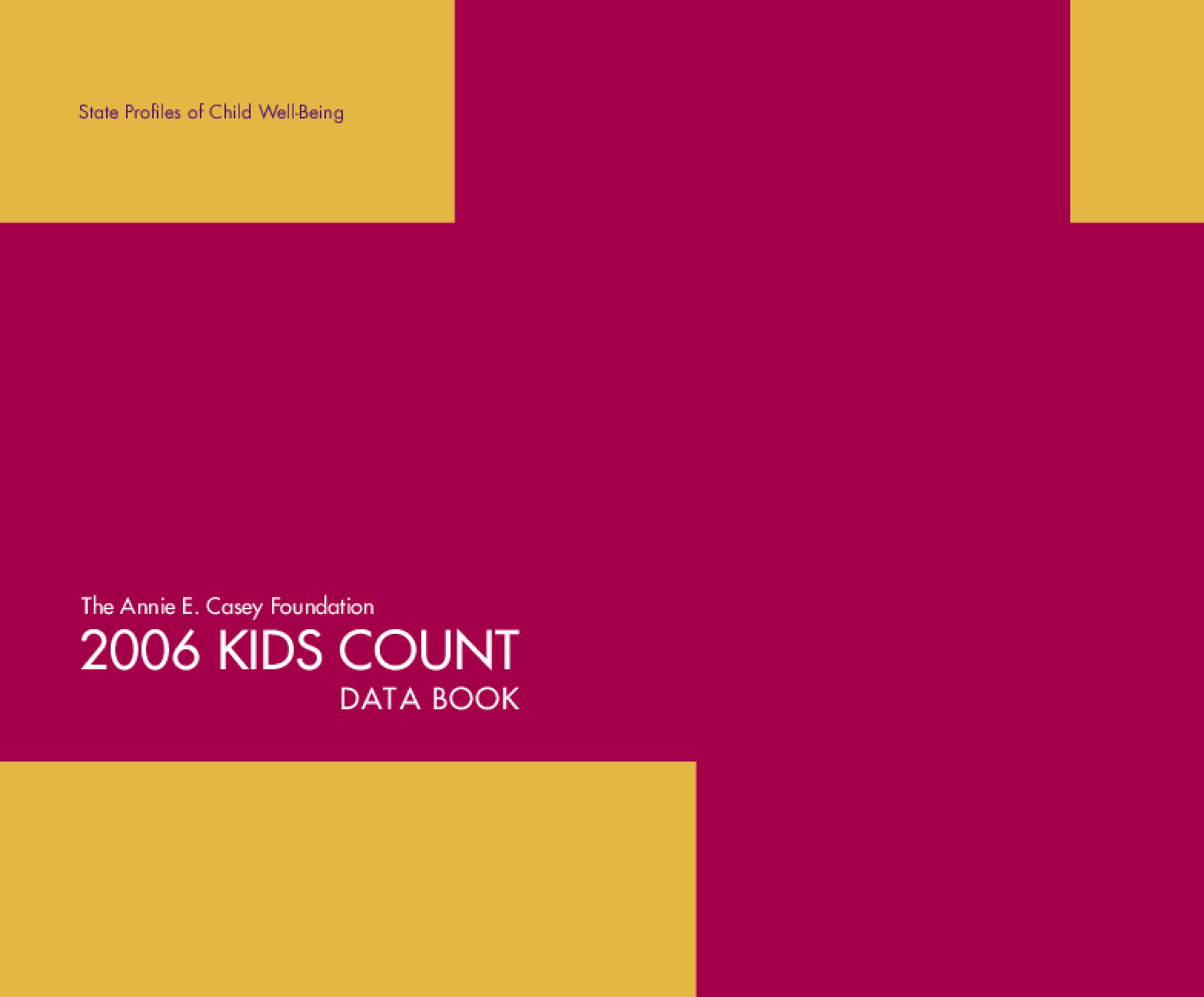 2006 KIDS COUNT Data Book