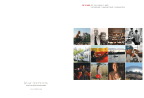 30 Years of the John D. and Catherine T. MacArthur Foundation