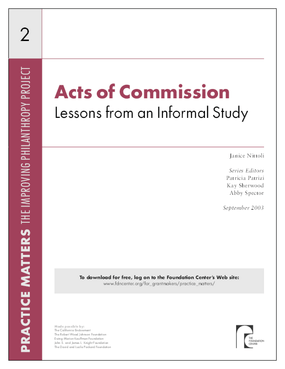 Acts of Commission: Lessons From an Informal Study