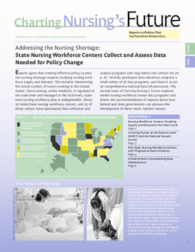 Addressing the Nursing Shortage: State Nursing Workforce Centers Collect and Assess Data Needed for Policy Change