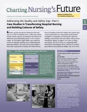 Addressing the Quality and Safety Gap Part I: Case Studies in Transforming Hospital Nursing and Building Cultures of Safety