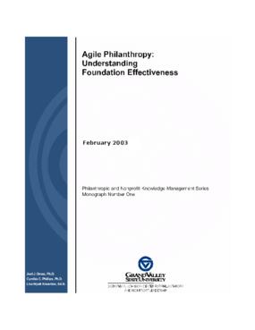 Agile Philanthropy: Understanding Foundation Effectiveness