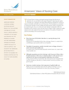 Americans' Views of Nursing Care