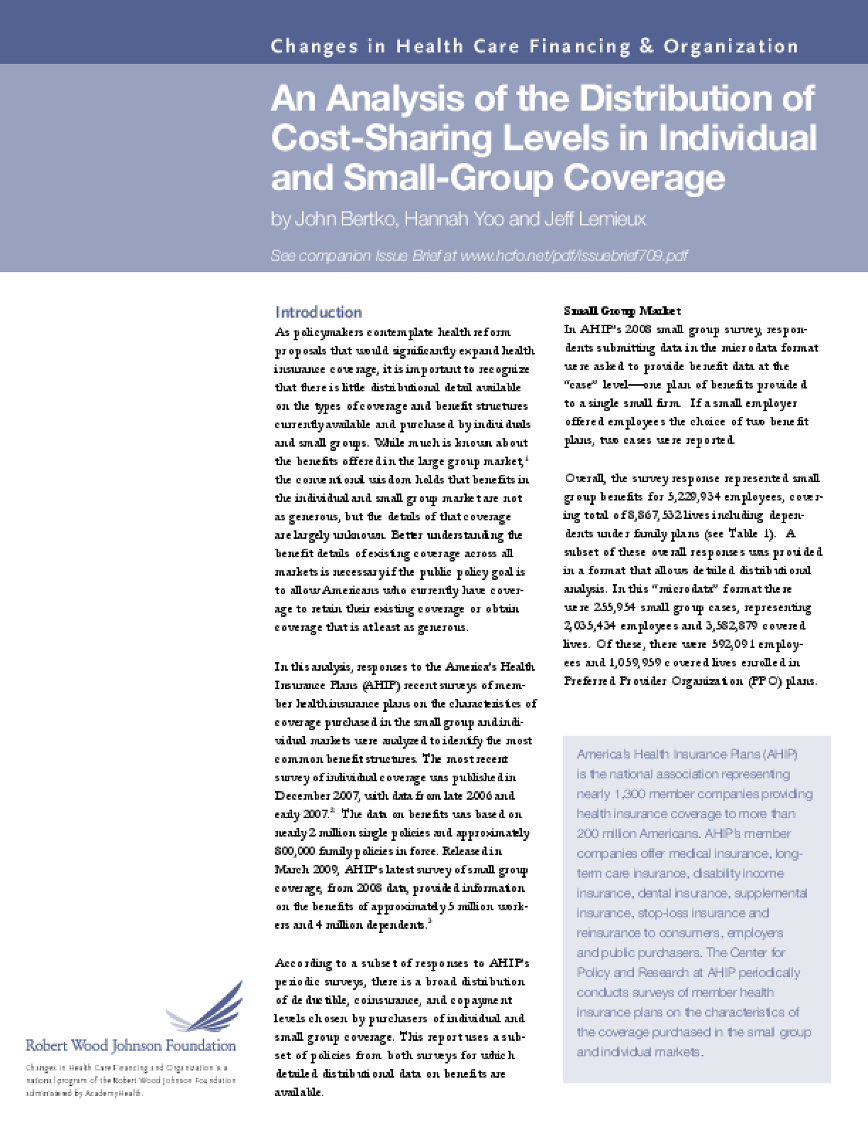 An Analysis of the Distribution of Cost-Sharing Levels in Individual and Small-Group Coverage