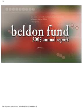 Beldon Fund - 2005 Annual Report