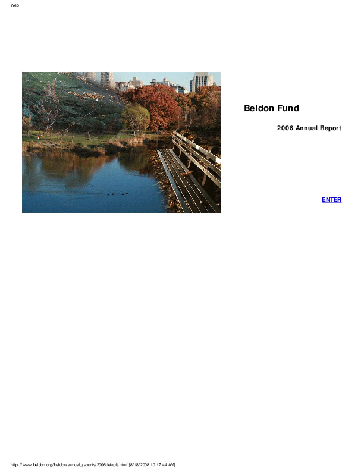 Beldon Fund - 2006 Annual Report
