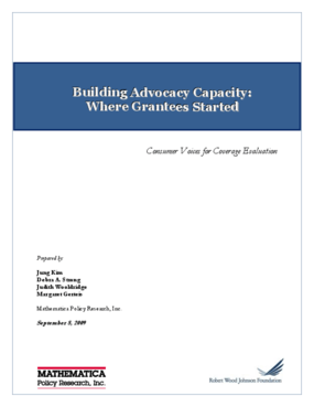 Building Advocacy Capacity: Where Grantees Started